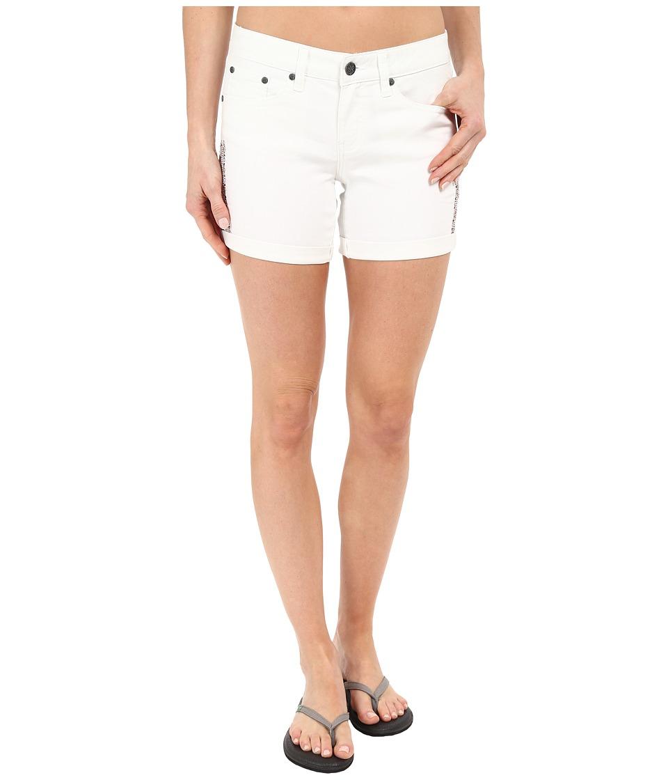 Prana - Kara Denim Short (White Aztec) Women's Shorts