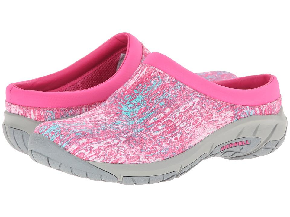 Merrell - Encore Splash (Fuchsia/Teal) Women's Slip on Shoes