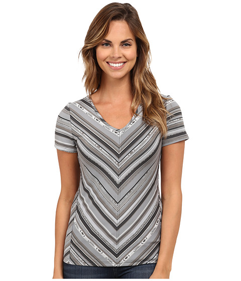 Royal Robbins - Impulse Stripe Tee (Obsidian) Women