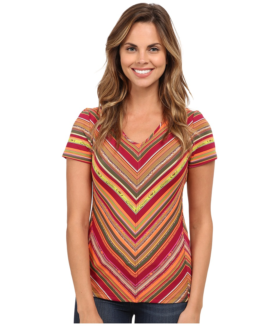 Royal Robbins - Impulse Stripe Tee (Raspberry) Women