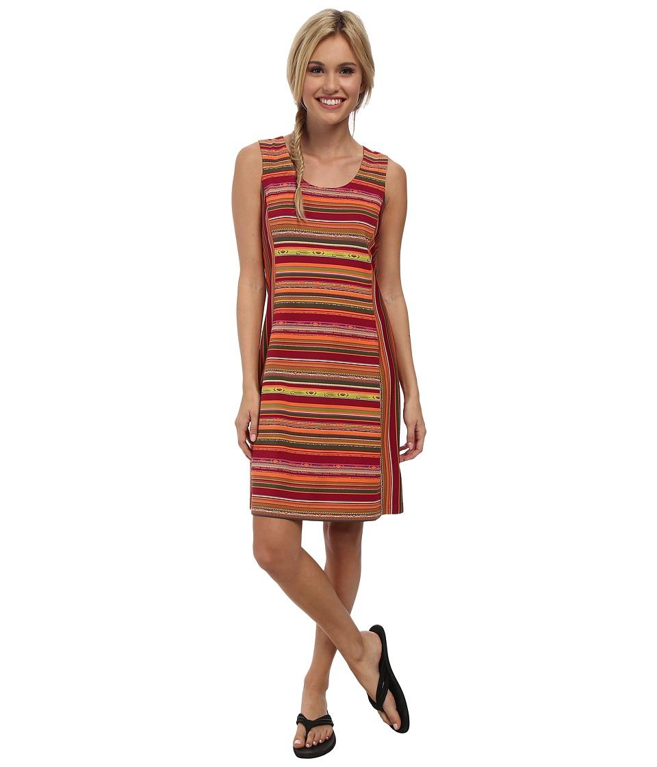 Royal Robbins - Impulse Stripe Dress (Raspberry) Women's Dress
