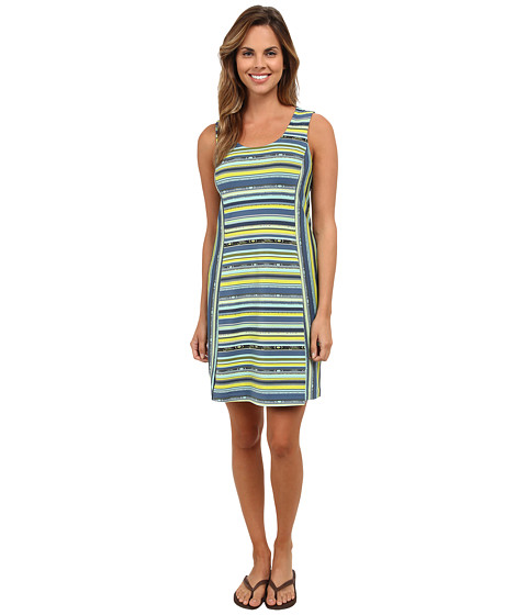 Royal Robbins - Impulse Stripe Dress (Lime Zest) Women's Dress