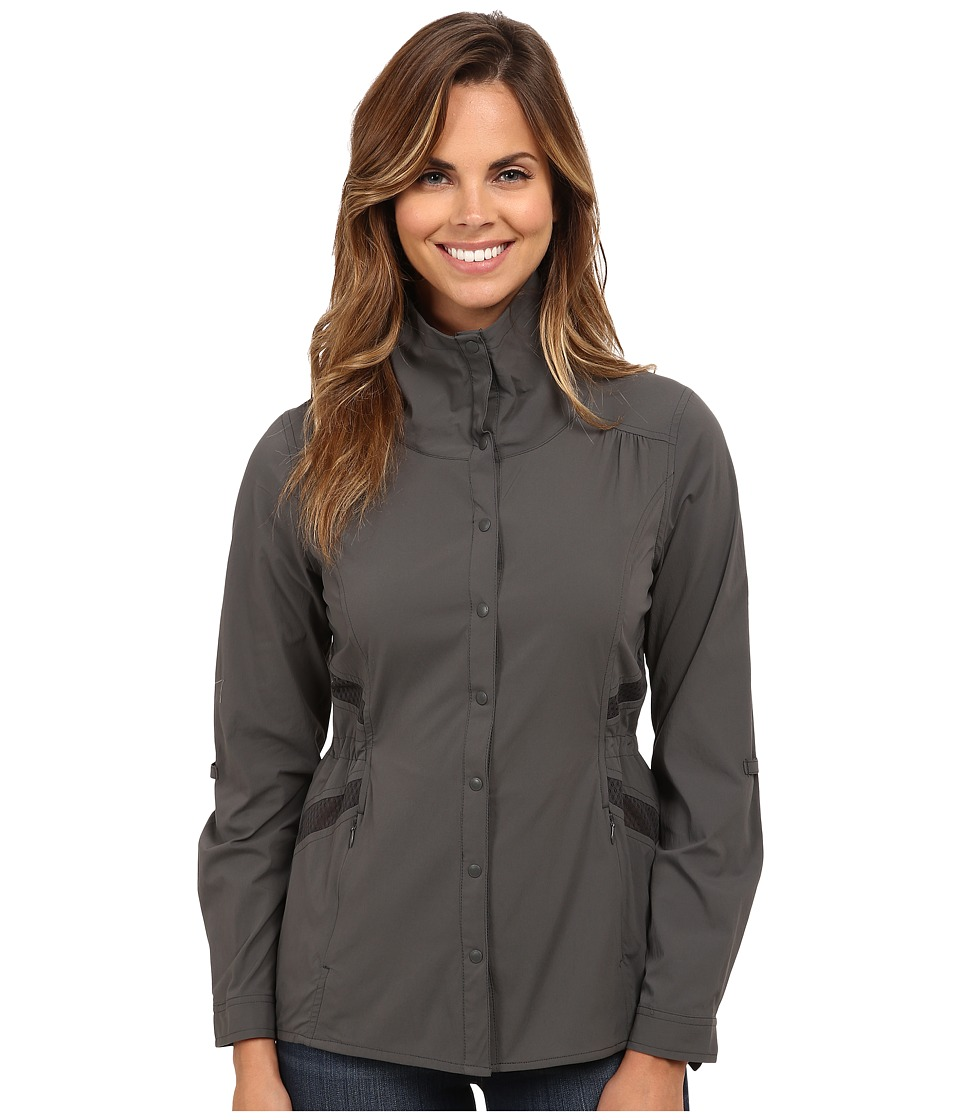 Royal Robbins - Hydro Stretch L/S (Obsidian) Women's Long Sleeve Button Up