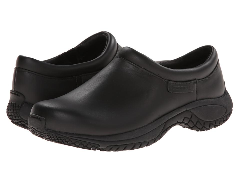 Merrell - Encore Moc Pro Grip (Black) Men's Moccasin Shoes