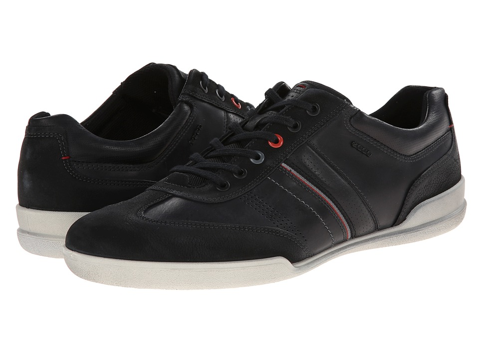ECCO Enrico Retro Sneaker (Black/Black) Men