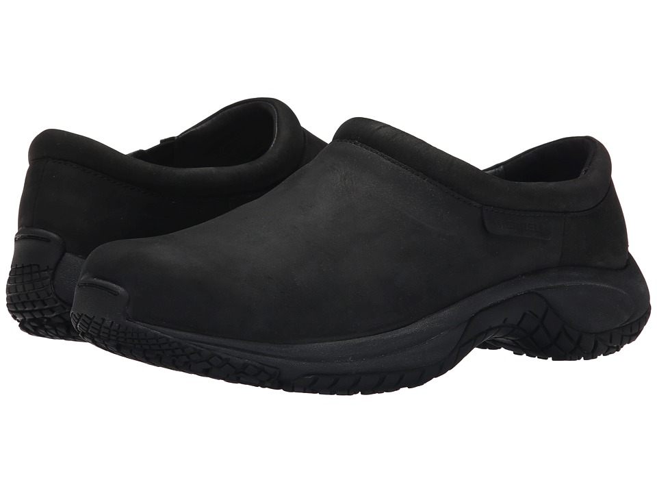 Merrell - Encore Moc Pro Grip Nubuck (Black) Men's Moccasin Shoes