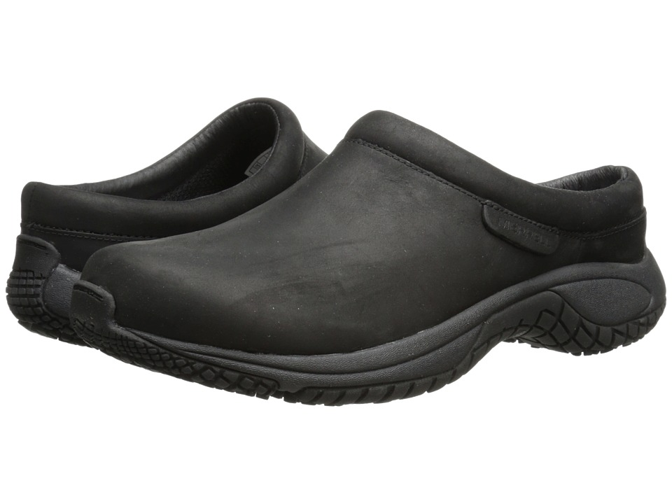Merrell - Encore Slide Pro Grip Nubuck (Black) Men's Slip on Shoes