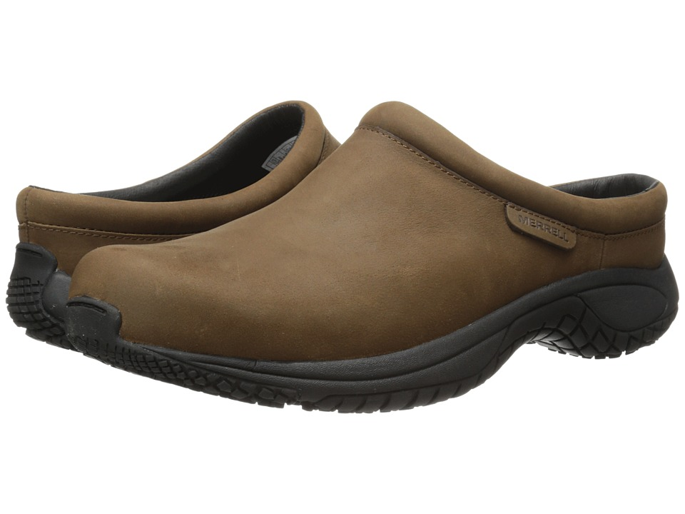 Merrell - Encore Slide Pro Grip Nubuck (Brown) Men's Slip on Shoes