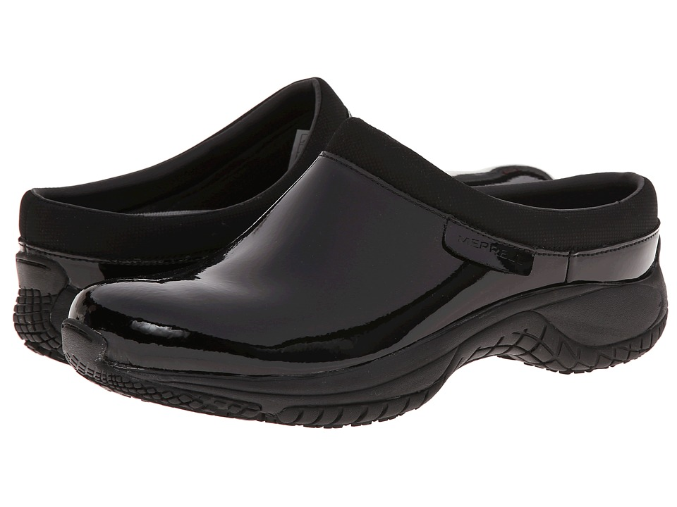 Merrell - Encore Slide Pro Shine (Black Shine Patent) Women's Slip on Shoes