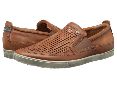 ECCO - Collin Retro Slip On (Cognac) Men