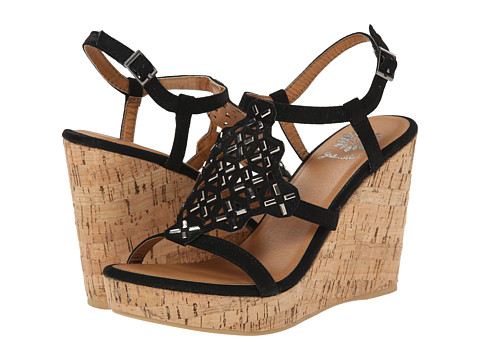 Yellow Box - Uptown (Black) Women's Wedge Shoes