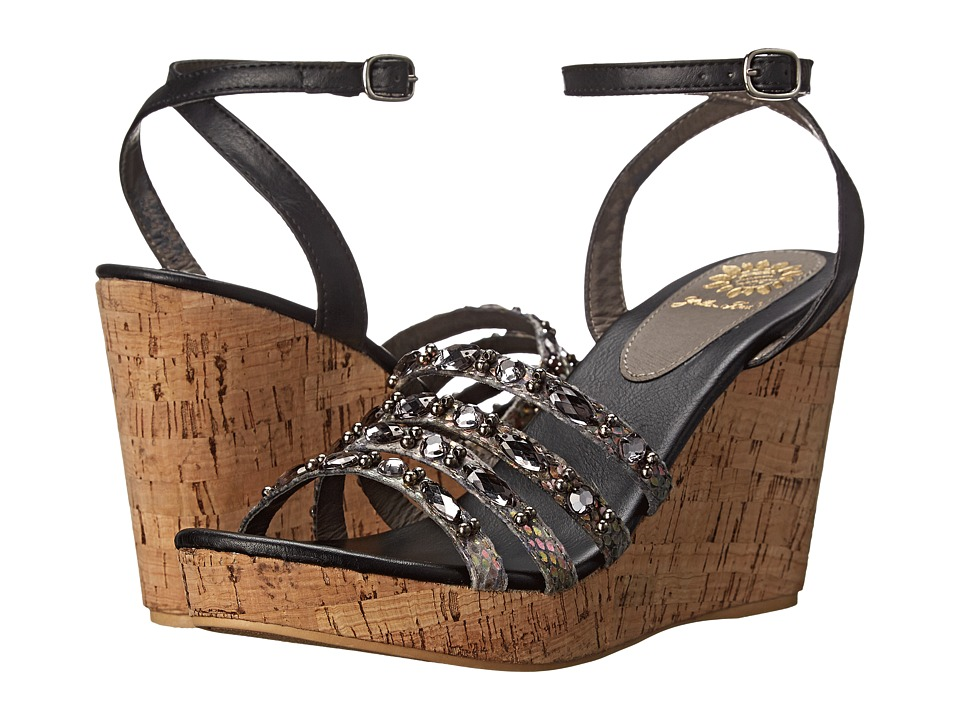 Yellow Box - Kerr (Black Multi) Women's Wedge Shoes
