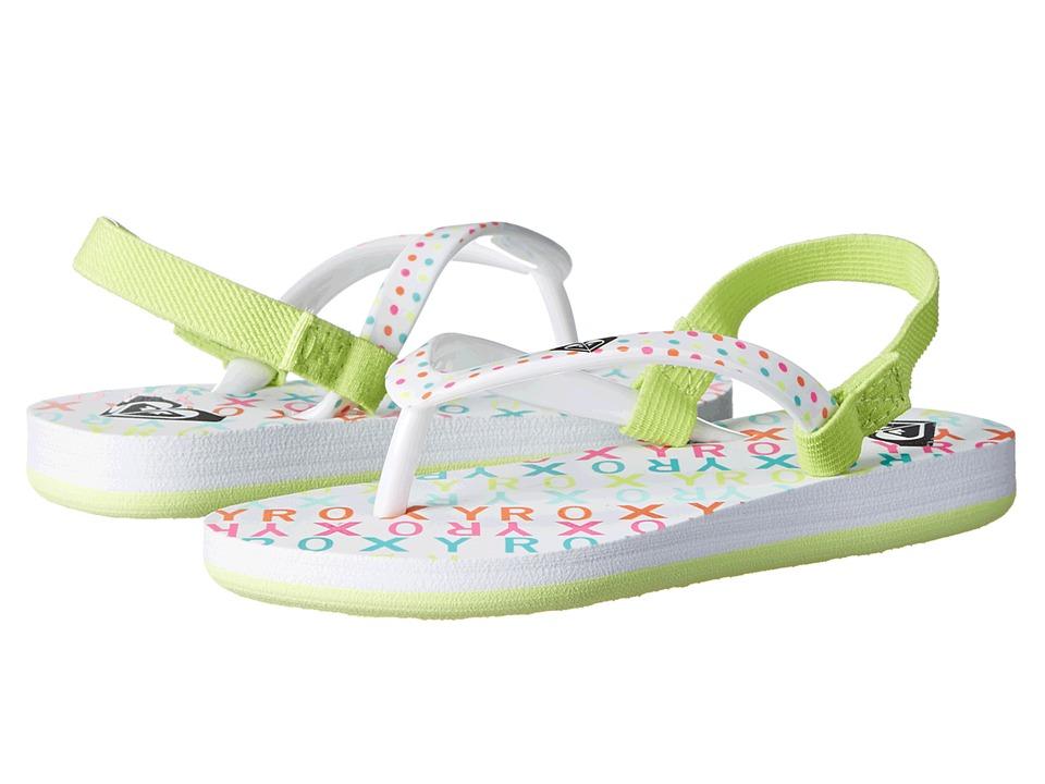 Roxy Kids - Pebbles V (Toddler) (White/Aqua) Girl
