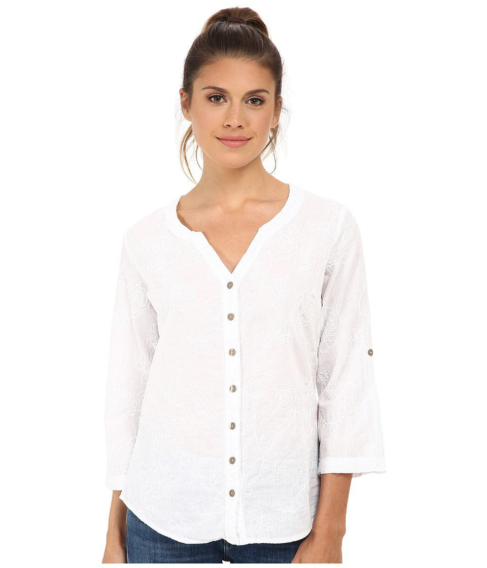 Royal Robbins - Grapevine 3/4 Sleeve (White) Women's Long Sleeve Button Up