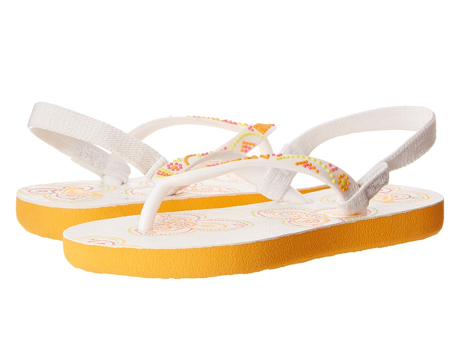 Roxy Kids - Sandee (Toddler) (White) Girls Shoes