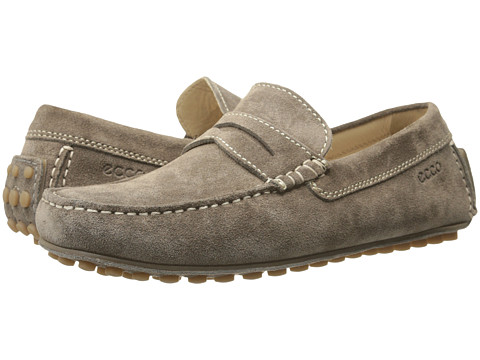 ECCO - Dynamic Moc (Warm Grey) Men's Slip on Shoes