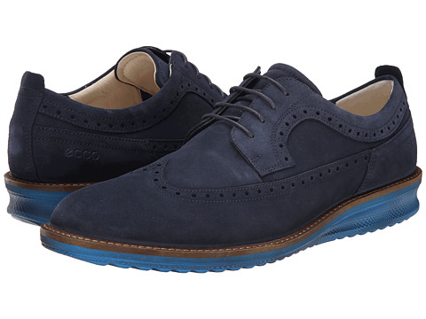 ECCO - Contured Tie (Marine) Men's Lace up casual Shoes