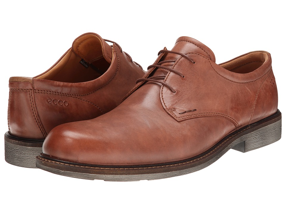 ECCO - Findlay Tie (Mahogany/Walnut) Men's Plain Toe Shoes