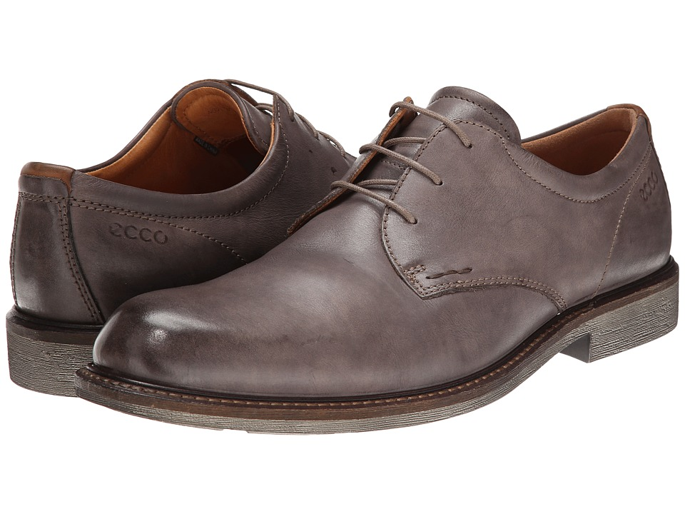 ECCO - Findlay Tie (Dark Clay/Walnut) Men's Plain Toe Shoes