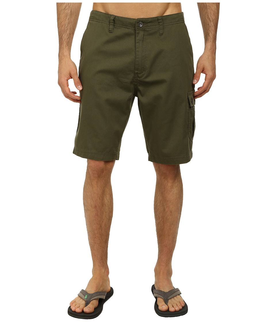 Reef - Rolling On Cargo Walkshort (Olive) Men's Shorts