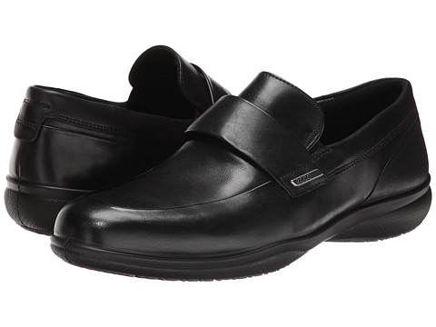 ECCO - Grenoble Slip On (Black) Men's Slip-on Dress Shoes