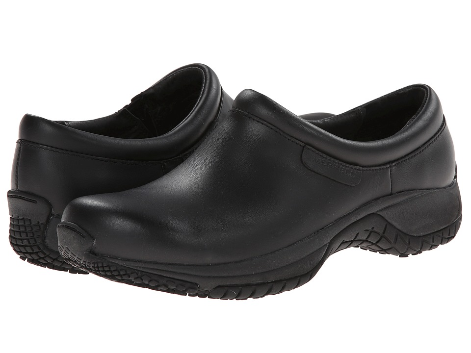 Merrell - Encore Moc Pro Grip (Black) Women's Moccasin Shoes