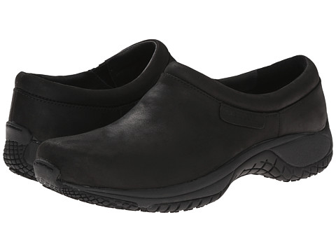 Merrell - Encore Moc Pro Grip Nubuck (Black) Women's Moccasin Shoes