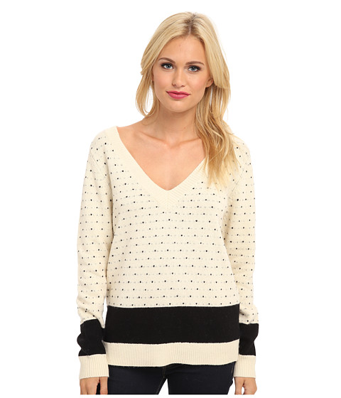 Townsen - Himalayan Pullover (Cream/Black Dots) Women's Sweater