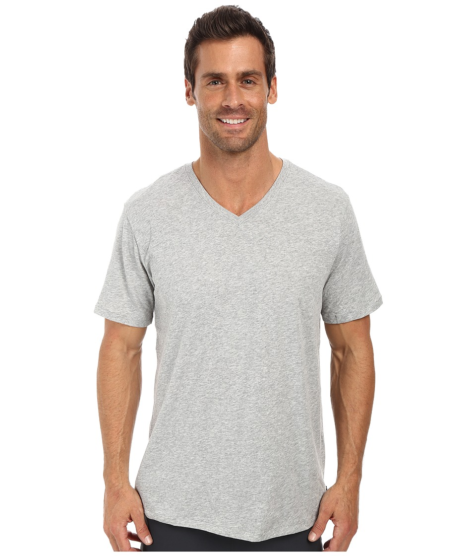 Nike SB - SB Dri-FIT Solid V-Neck Tee (Dark Grey Heather/Dark Grey Heather 1) Men