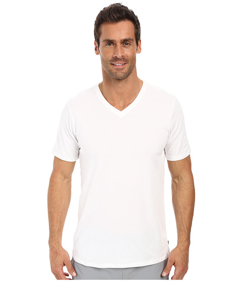 Nike SB - SB Dri-FIT Solid V-Neck Tee (White/White 1) Men's Short Sleeve Pullover