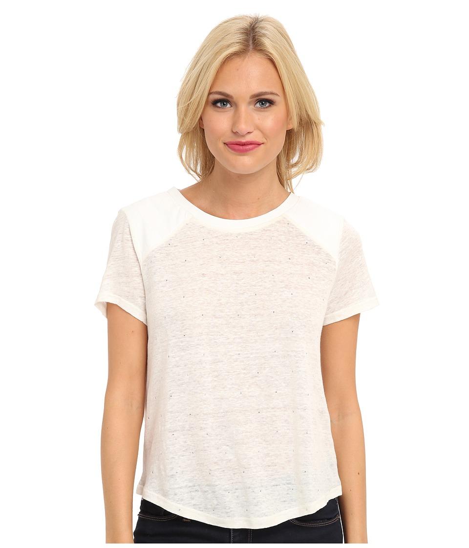Townsen - Seattle Stud S/S Top (Cream) Women's Short Sleeve Pullover