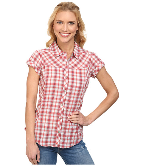 Royal Robbins - Peasant Plaid S/S (Persimmon) Women's Short Sleeve Button Up