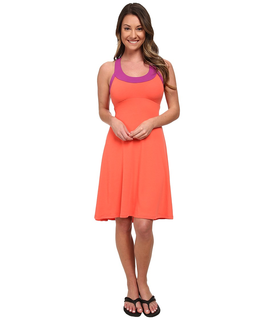 Prana - Cali Dress (Neon Orange) Women's Dress