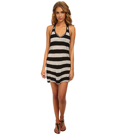 Hurley - Tomboy Stripe Tunic (Black) Women's Swimwear