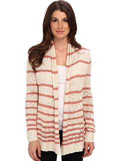 SALE! $34.99 - Save $11 on Pink Rose Stripe Cardigan (Oatmeal Dusty Rose) Apparel - 23.93% OFF $46.00