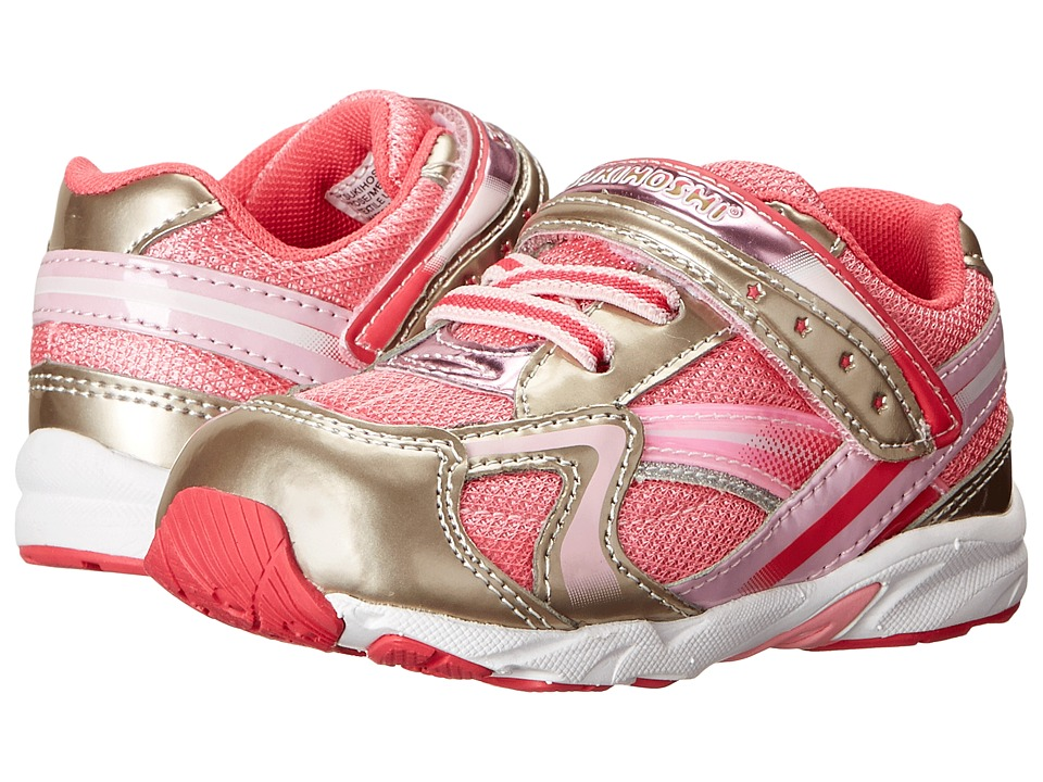 Tsukihoshi Kids - B. Glitz (Toddler) (Rose/Metallic) Girls Shoes