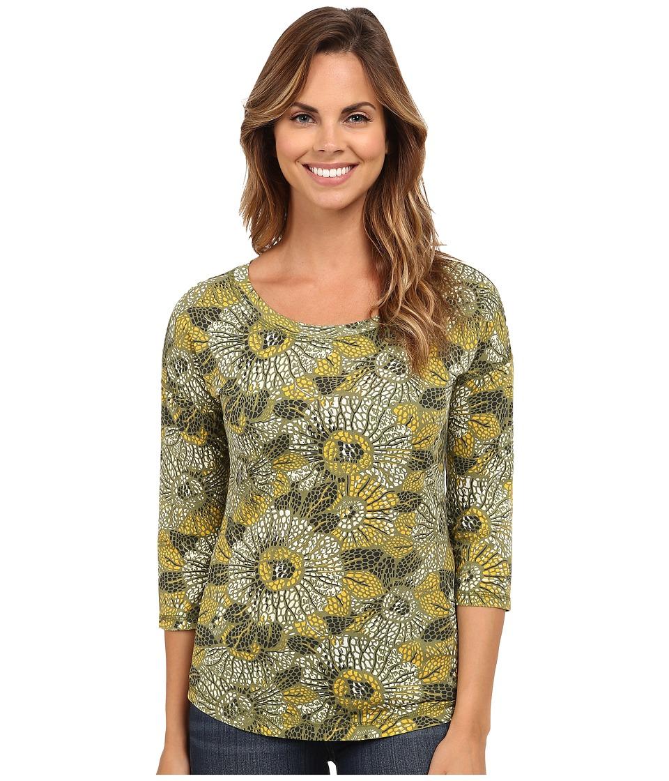 Royal Robbins - Sookie Sunflower Crew (Eucalyptus) Women's Long Sleeve Pullover