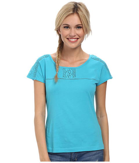 Royal Robbins - Sookie Cap Sleeve (Aqua) Women's Short Sleeve Pullover
