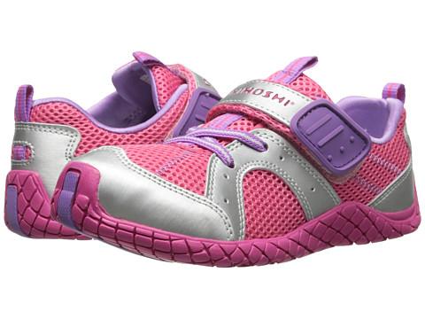 Tsukihoshi Kids - Marina (Toddler/Little Kid) (Silver/Coral) Girls Shoes