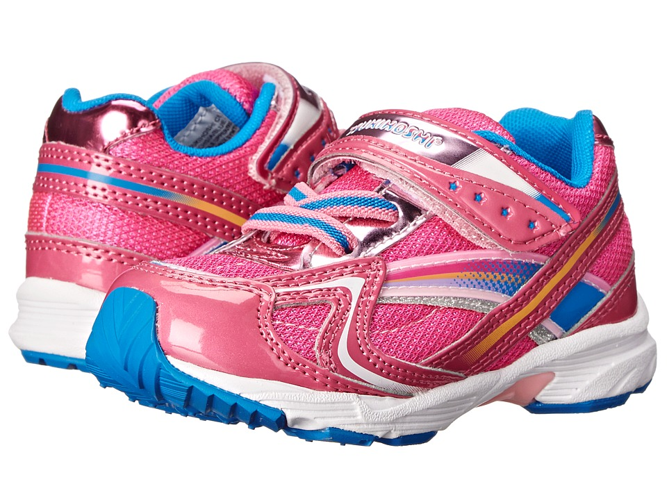 Tsukihoshi Kids - Glitz (Toddler/Little Kid) (Fuchsia/Blue) Girls Shoes