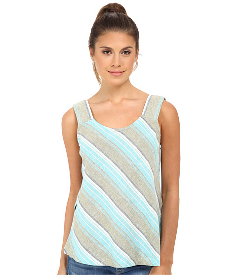 Royal Robbins - Adrift Stripe Tank (Aqua) Women's Sleeveless