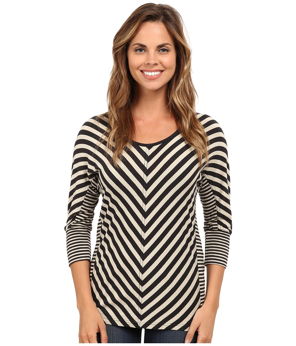 Royal Robbins - Noe Multi Stripe 3/4 Sleeve (Dark Sandstone) Women's Long Sleeve Pullover