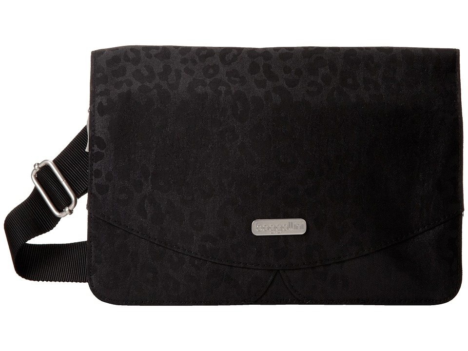 Baggallini - Venture Crossbody (Black/Cheetah) Cross Body Handbags