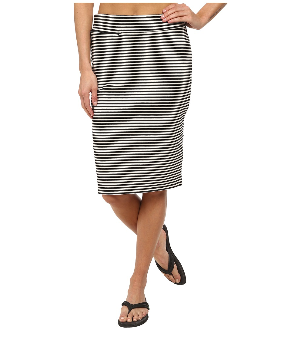 Toad&Co Transito Skirt (Black Stripe) Women