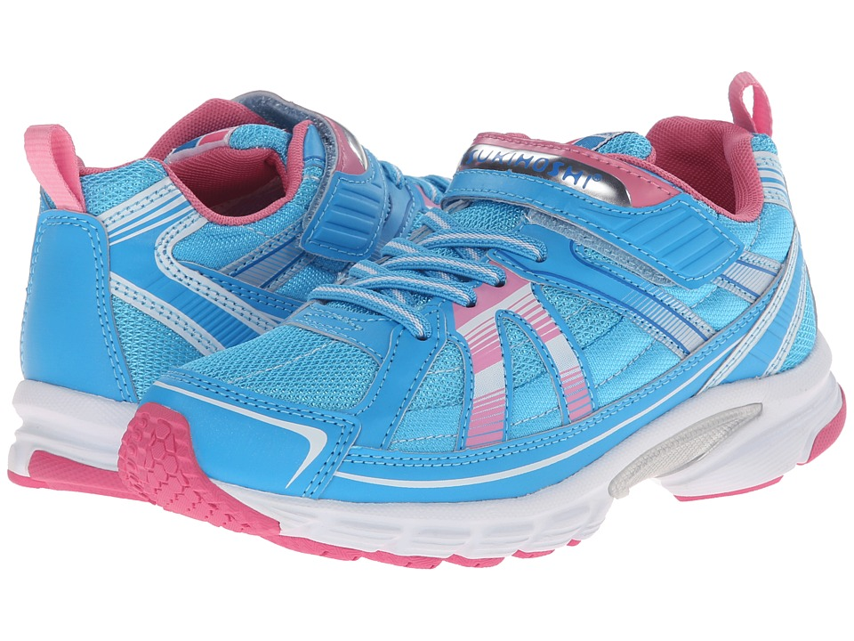 Tsukihoshi Kids - Youth Storm (Little Kid/Big Kid) (Sky/Pink) Girls Shoes