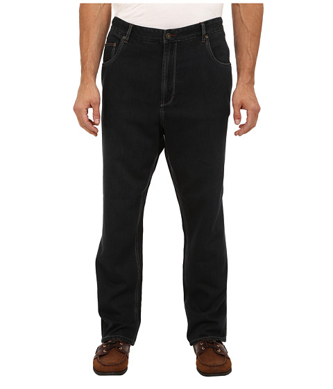 Tommy Bahama - Big Tall Island Ease OD Classic 5-Pocket Jean (Black Overdye) Men