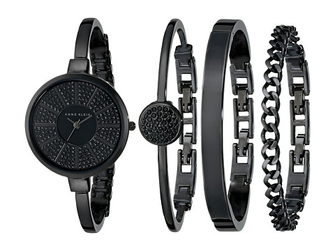 Anne Klein - AK-1471BKST (Black) Watches