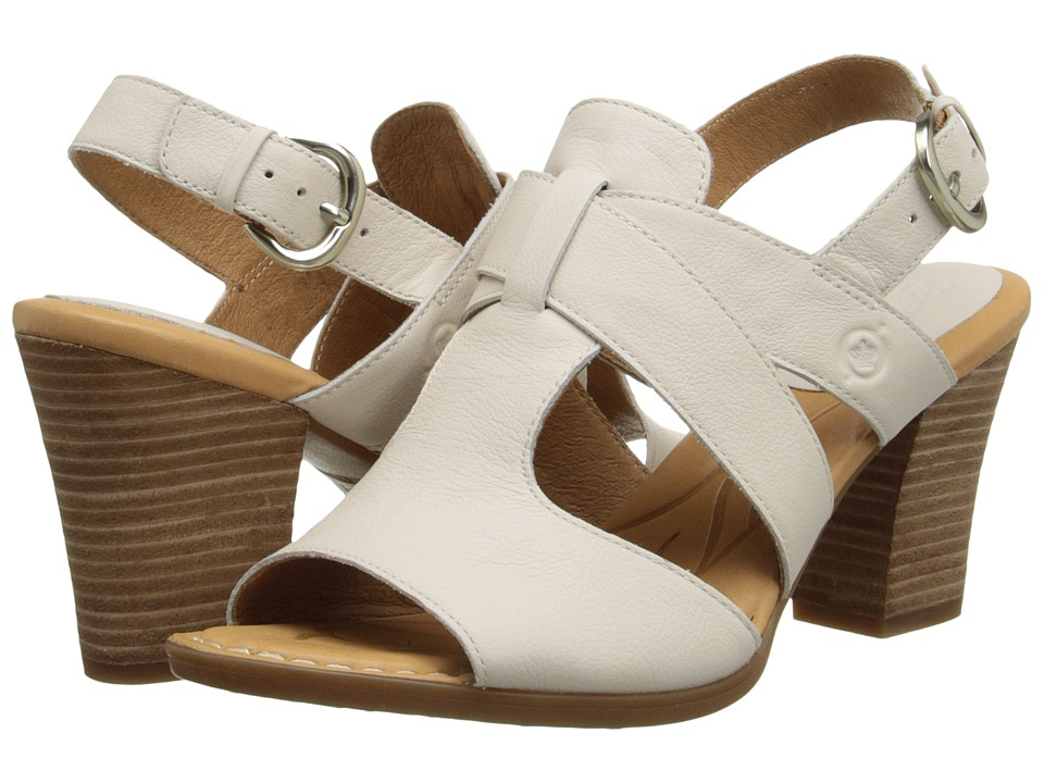 Born - Elly (Latte (Off White) Full-Grain Leather) High Heels