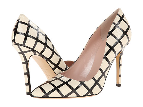 Kate Spade New York - Larisa (Cream/Black Check Snake Print Leather) Women's Shoes