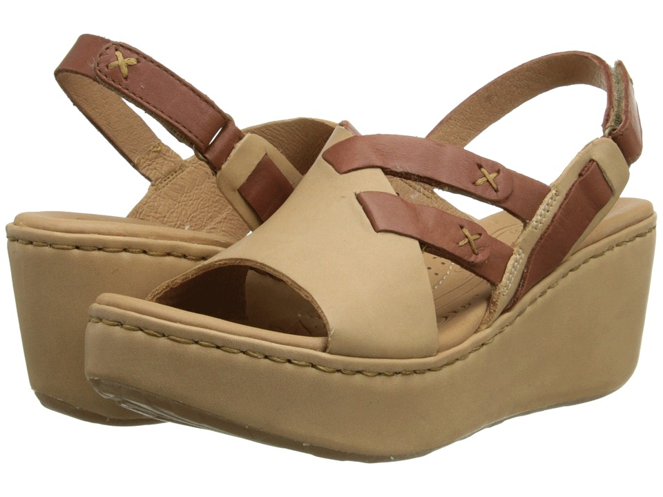 Born - Jacinto (Nude (Natural)/Mosto (Red Brown) Full-Grain Leather) Women